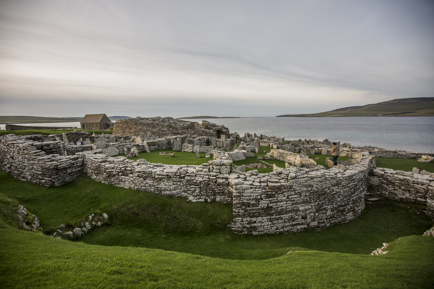 Eynhallow from the broch