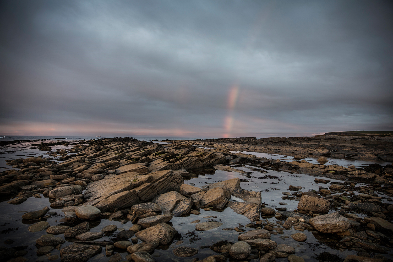 Orkney Rock Pools and Rainbow